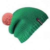 Beanie No.1 - Mützenfarbe Smaragd - Bommelfarbe Altrosa