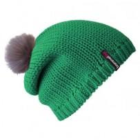 Beanie No.1 - Mützenfarbe Smaragd - Bommelfarbe Fakefur Altrosa