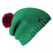 Beanie No.1 - Mützenfarbe Smaragd - Bommelfarbe Fakefur Neonpink