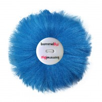 Wechselbommel Fakefur Neonblau