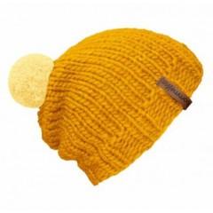 Beanie Handmade - Mützenfarbe Gelb - Bommelfarbe Hellgelb