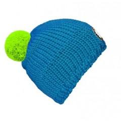 seeME - Mützenfarbe Türkisblau - Bommelfarbe Neongrün