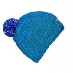 seeME - Mützenfarbe Türkisblau - Bommelfarbe Reflektor Blau